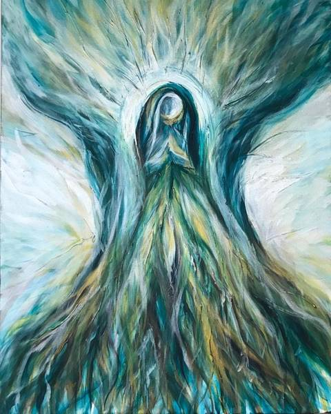 Painting - Divine Mother Tree Of Wisdom by Michelle Pier