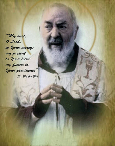 Padre Pio Wall Art - Photograph - Divine Providence by Samuel Epperly