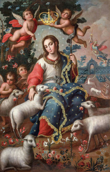 Holy Spirit Photograph - Divine Shepherdess by Jose de Paez