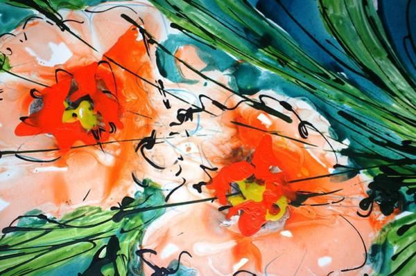 Wall Art - Painting - Divineblooms148 by Baljit Chadha