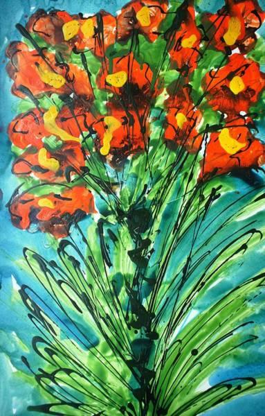 Wall Art - Painting - Divineblooms22139 by Baljit Chadha