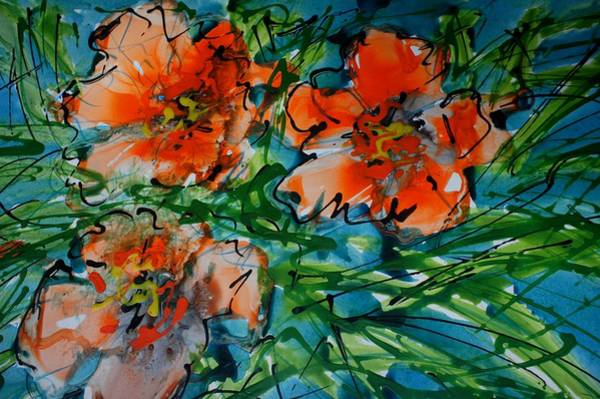Wall Art - Painting - Divineblooms22140 by Baljit Chadha