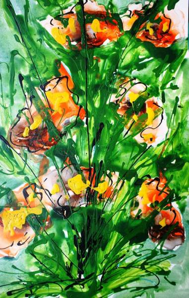 Wall Art - Painting - Divineblooms22141 by Baljit Chadha