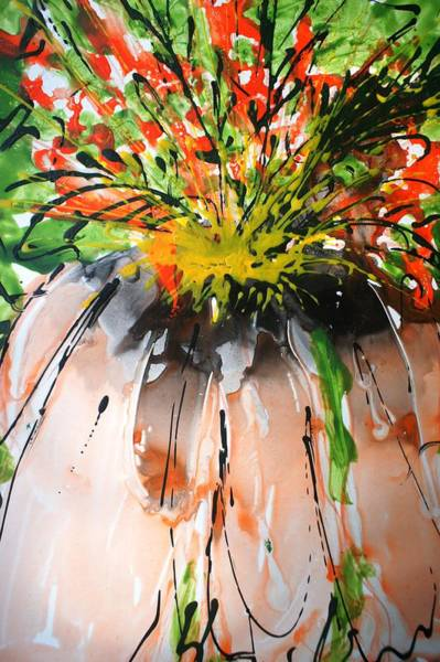 Wall Art - Painting - Divineblooms22144 by Baljit Chadha