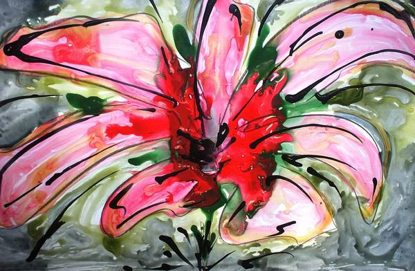 Wall Art - Painting - Divineblooms22153 by Baljit Chadha