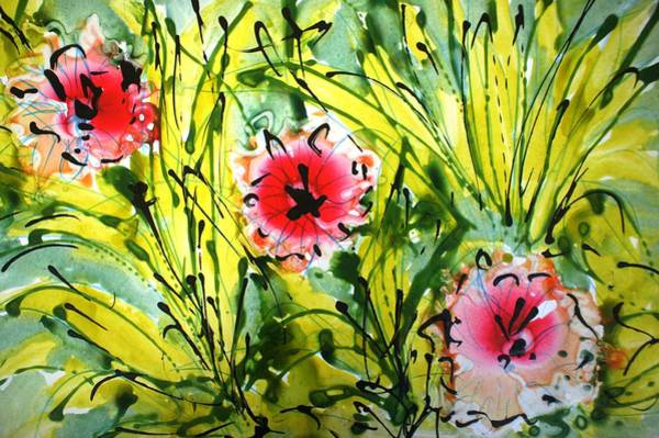 Wall Art - Painting - Divineblooms22158 by Baljit Chadha