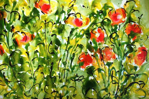 Wall Art - Painting - Divineblooms22160 by Baljit Chadha