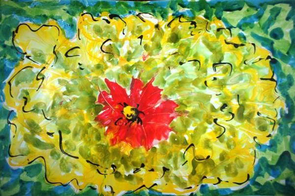 Wall Art - Painting - Divineblooms22192 by Baljit Chadha