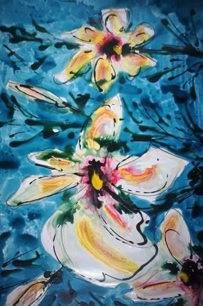 Wall Art - Painting - Divineblooms22202 by Baljit Chadha