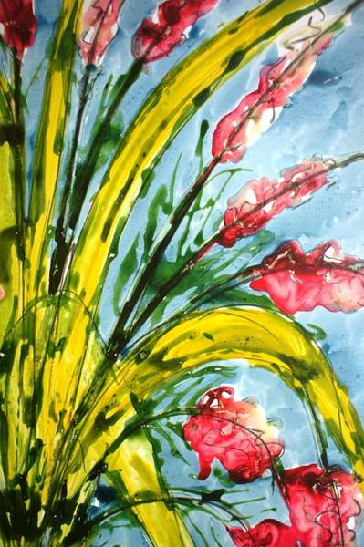 Wall Art - Painting - Divineblooms222220 by Baljit Chadha