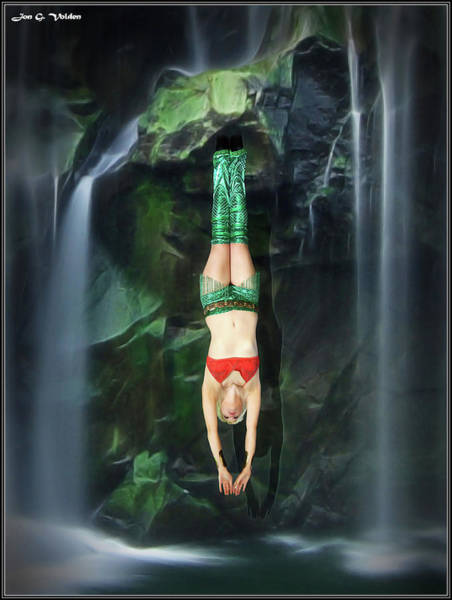 Photograph - Diving Aqua Girl by Jon Volden