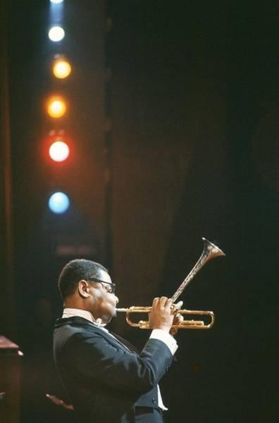 Photograph - Dizzy Gillespie - by Herve Gloaguen