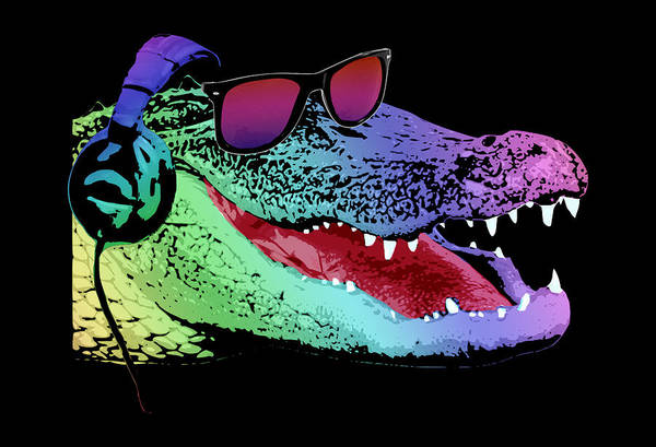 Wall Art - Digital Art - Dj Alligator by Filip Hellman
