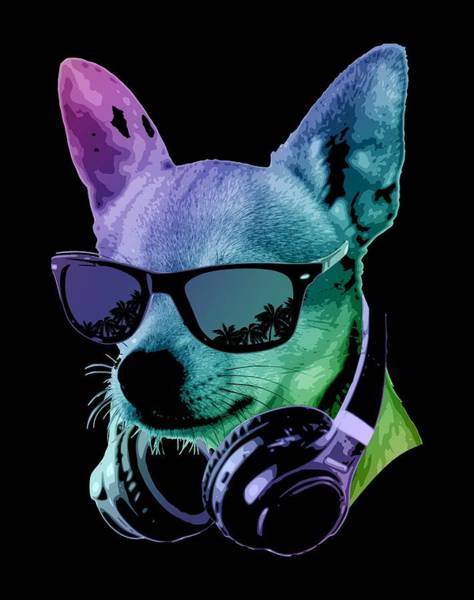 Wall Art - Digital Art - Dj Chihuahua by Filip Hellman
