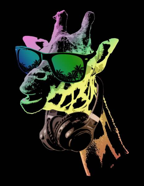 Wall Art - Digital Art - Dj Giraffe by Filip Hellman