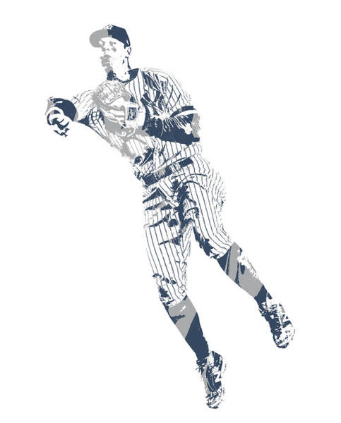 Wall Art - Mixed Media - Dj Lemahieu New York Yankees Pixel Art 2 by Joe Hamilton