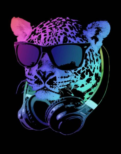 Wall Art - Digital Art - Dj Leopard by Filip Hellman