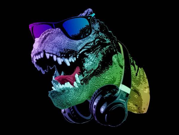 Wall Art - Digital Art - Dj T-rex by Filip Hellman