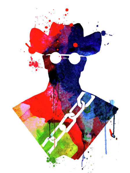 Academy Award Wall Art - Mixed Media - Django Watercolor by Naxart Studio