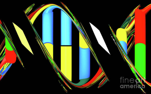 Digital Art - Dna Abstract 15 by Russell Kightley