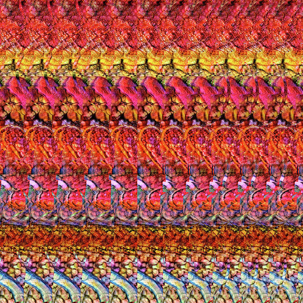 Digital Art - Dna Autostereogram Qualias Gut 1 by Russell Kightley