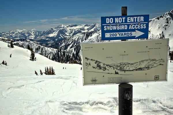 Photograph - Do Not Enter Snowbird Here by Adam Jewell