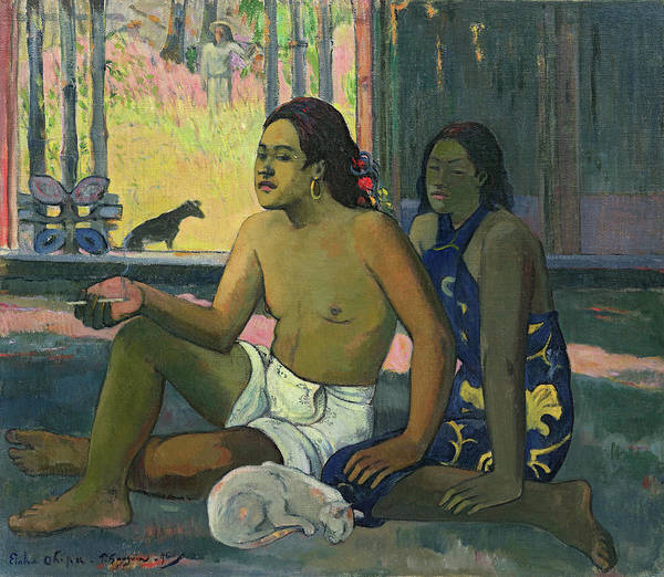 Wall Art - Painting - Do Not Work, Tahitians In A Room, 1896 by Paul Gauguin