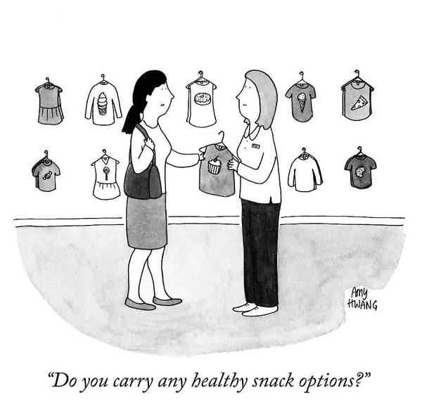 Options Drawing - Do You Carry Any Healthy Snack Options by Amy Hwang