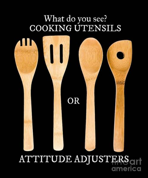 Wooden Spoon Digital Art - Do You See A Cooking Utensil Or Attitude Adjuster by Sassy Lassy