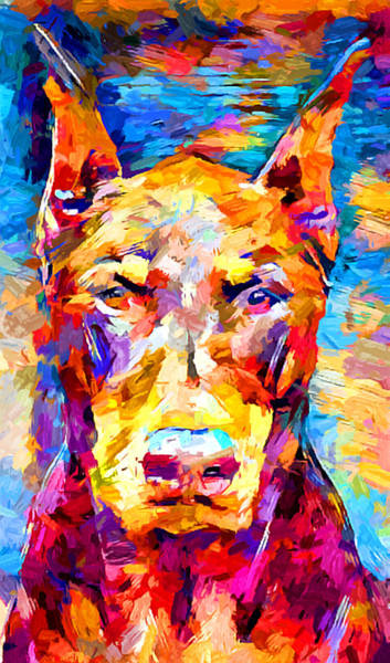 Wall Art - Painting - Doberman 3 by Chris Butler