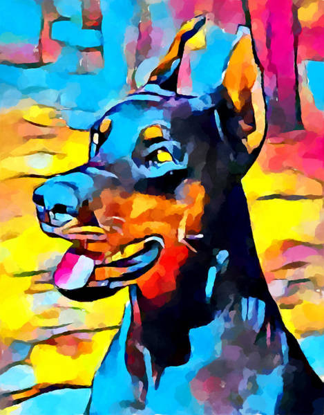 Wall Art - Painting - Doberman 5 by Chris Butler