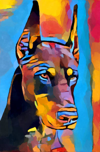Wall Art - Painting - Doberman 6 by Chris Butler