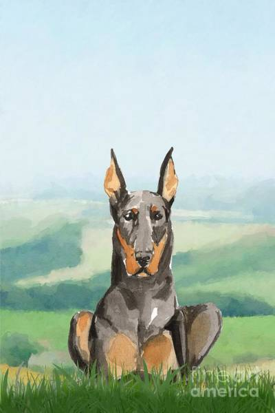 Pedigree Painting - Doberman Pinscher by John Edwards