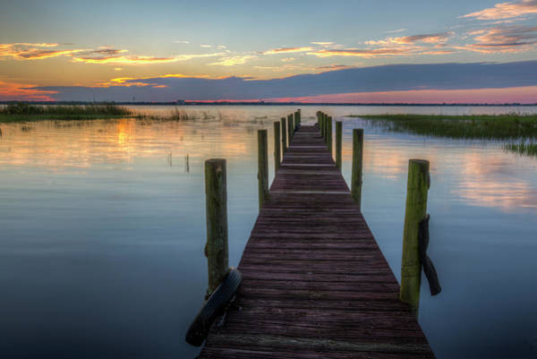 Photograph - Dock At Sunset by Debra and Dave Vanderlaan