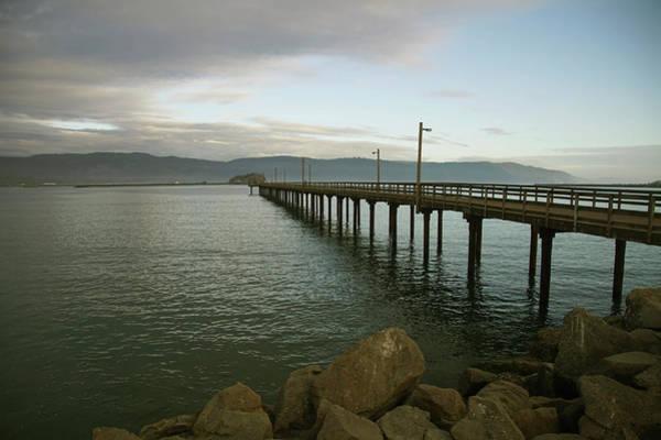 Photograph - Dock Extends Out Into The Harbor Of Crescent City by Steve Estvanik