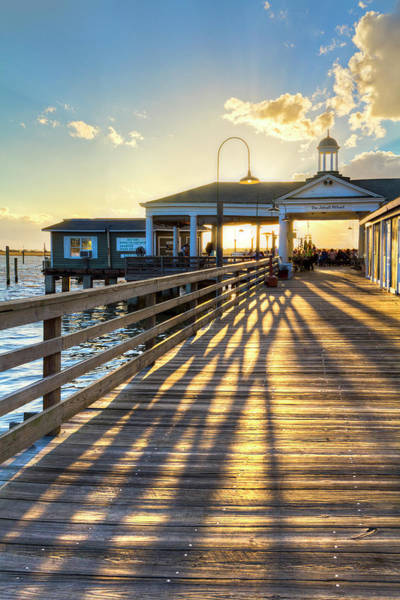 Photograph - Dock Shadows On Jekyll Island II by Debra and Dave Vanderlaan
