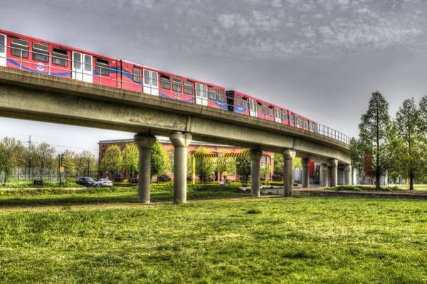 Wall Art - Photograph - Docklands Light Railway Train  by David Pyatt
