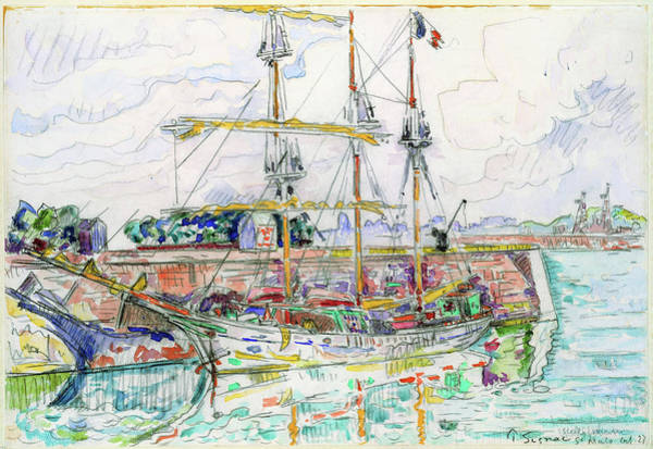 Wall Art - Painting - Docks At Saint Malo - Digital Remastered Edition by Paul Signac