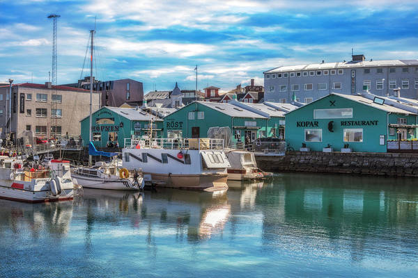 Photograph - Docks At The Harbor In Reykjavik by Debra and Dave Vanderlaan