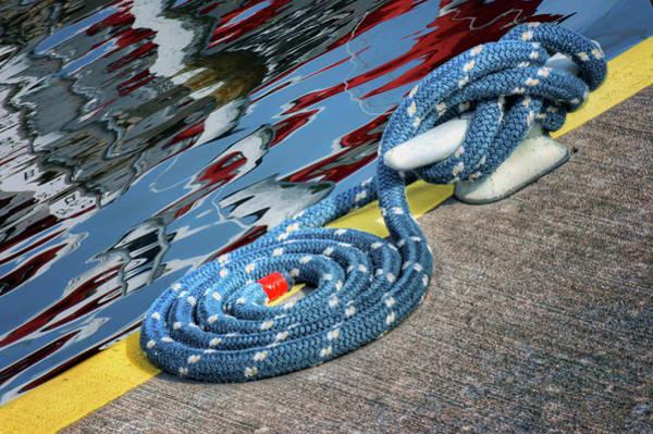 Wall Art - Photograph - Dockside - Mooring Rope - Reflections by Nikolyn McDonald