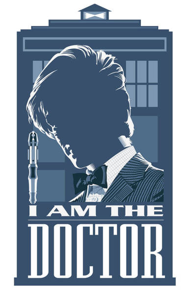 Television Program Digital Art - Doctor Who And The Tardis by Garth Glazier