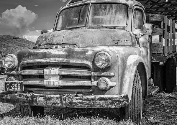 Photograph - Dodge Farm Truck Bw by Keith Smith