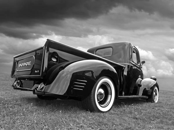 Wall Art - Photograph - Dodge Truck 1947 Rear View by Gill Billington