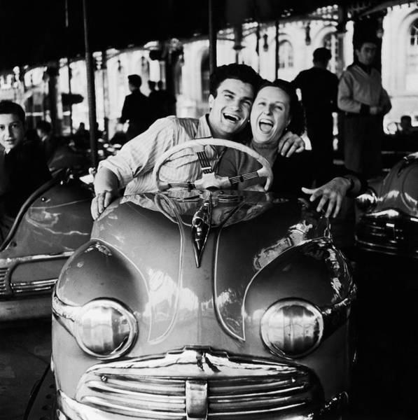 Boyfriend Photograph - Dodgems Fans by Archive Photos