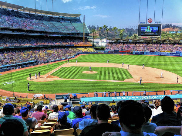 Painting - Dodger Stadium Los Angeles Baseball Ballpark Stadium by Christopher Arndt