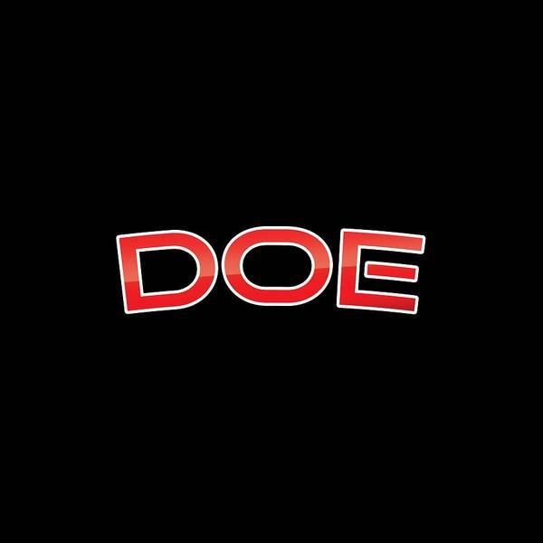 Dad Wall Art - Digital Art - Doe by TintoDesigns