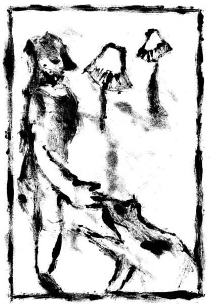 Digital Art - Dog Digitally Whitened Paper by Artist Dot