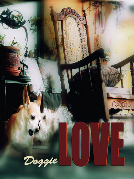 Digital Art - Dog Love Art 8 by Miss Pet Sitter