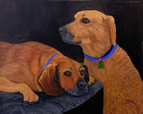 Painting - Dog Love by Karen Zuk Rosenblatt