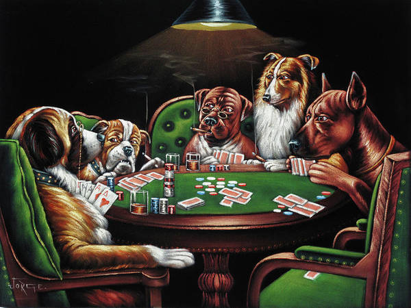 Coolidge Painting - Dog Poker After Original By Coolidge   by Jorge Torrones